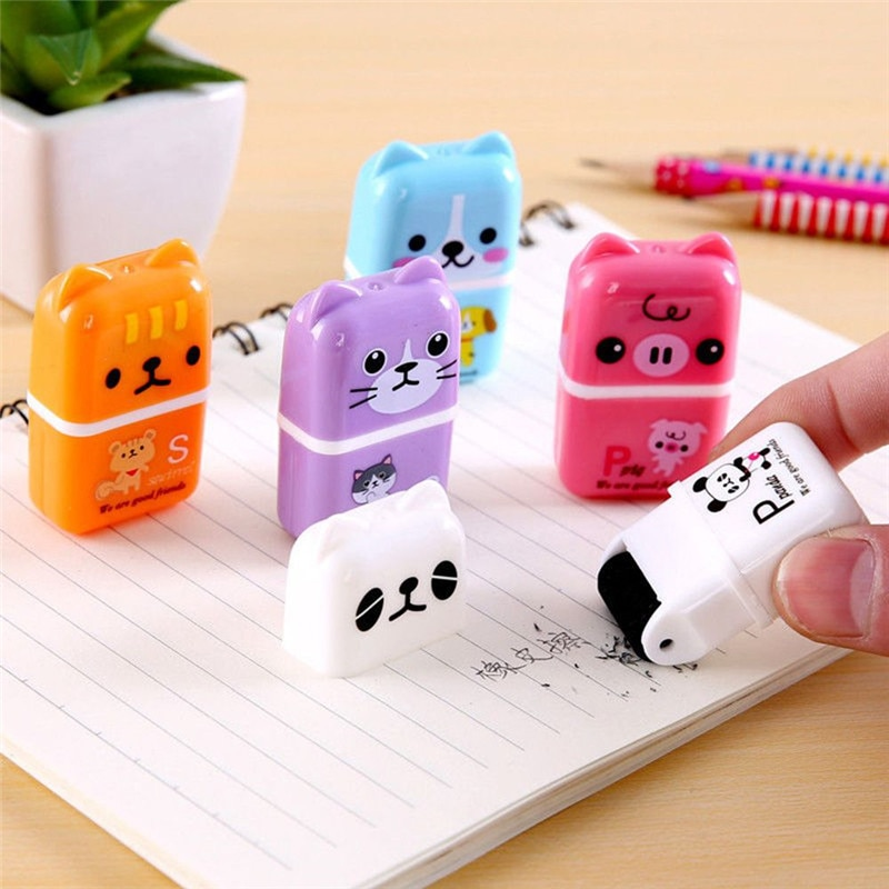 Cartoon Animal Pattern Rubber Eraser