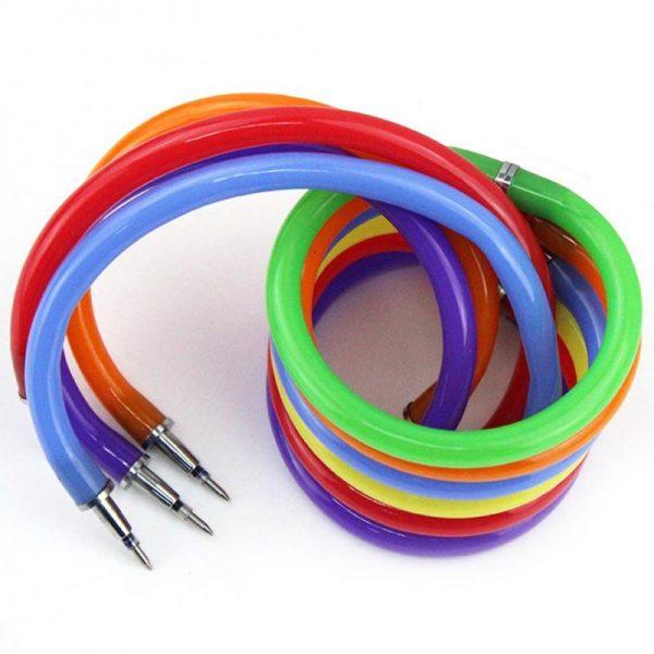 1Pcs Bracelet Ball Pen Novelty Flexible Ballpoint Pen Creative Stationery For School Office