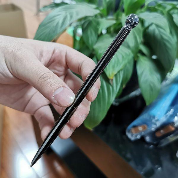 1 Pcs Luxury crystal pen Metal ballpoint pen Student school office writing pen Holiday promotion gift pen Small animal pen
