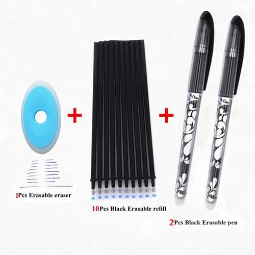 Erasable Pen Set 0.5mm Blue Black Ink