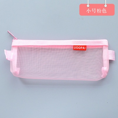 Simple Transparent Nylon Pencil Bag Zipper Pen Case Pouch Stationery Student Large Capacity Office School Supplies