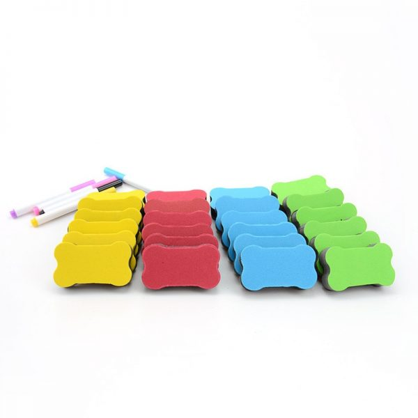 4PCS/LOT Magnetic White Board Eraser School Office Whiteboard Eraser Accessories School Supplies Random Color Diary Stationery
