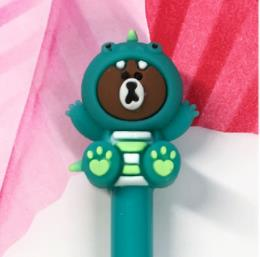 1pcs Cub Neutral Pen 0.5mm Kawaii Pens Student Cute Signing Pen Novelty Stationer Black Cute Pens Kawaii School Supplies