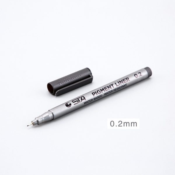 8 Design Sketching Markers Art Supplies Pen Pigment Bullet Journal Solid Color Drawing Handwriting For School Office Stationery