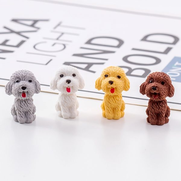 Kawaii Cute dog Cartoon Eraser Pencil Rubber Novelty For Kids School Supplies Student Office Stationery