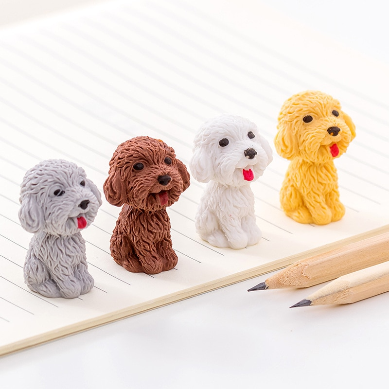 Cute dog Cartoon Eraser Pencil Rubber