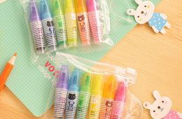 Set of 6 Cute Mini Highlighter Paint Marker