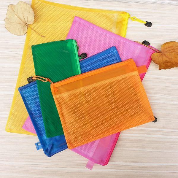 Waterproof Zipper Bag with internal split case Office Supplies Document Bags School Supplies pens and books storage bag