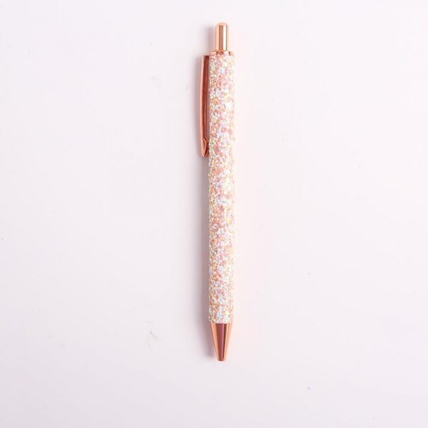 Glitter Sequin Crystal Pen 0.5mm Black refill Ballpoint Pen School Office Stationery Student Writing Tool Working Gel Pen